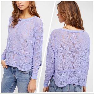 Free people   purple lace sweater